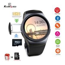 Kaimorui KW18 Bluetooth Smart Watch SIM Card Heart Rate TF Card Men Sport Watch Phone Smartwatch For Xiaomi Huawei IOS Phone цена и фото