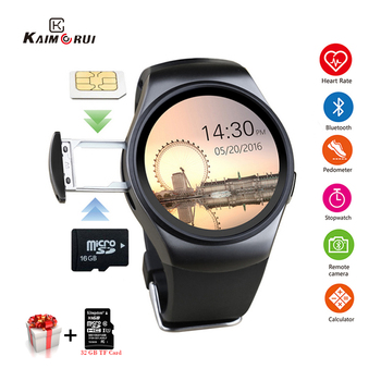 цена на Kaimorui KW18 Bluetooth Smart Watch SIM Card Heart Rate TF Card Men Sport Watch Phone Smartwatch For Xiaomi Huawei IOS Phone