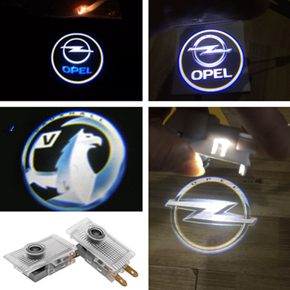 2Pcs LED Car Logo Door Welcome Light Projector Laser Lamp For Opel Insignia 2009 2010 2011 2014 2018 2013 2015 2016 Accessories