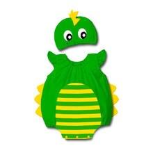 Детский зеленый костюм динозавра комбинезон для младенцев маскарадный