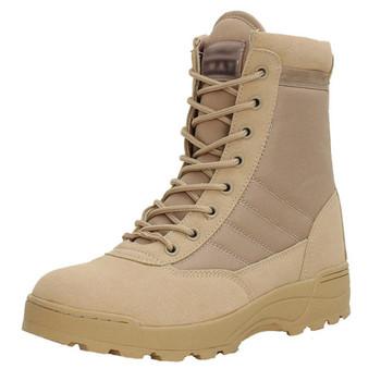 Us skórzany wojskowy buty wojskowe dla mężczyzn letnie oddychające bojowe Bot piechota buty taktyczne armii boty praca na zewnątrz buty tanie i dobre opinie HAIMAITONG NONE CN (pochodzenie) Men Boots 1