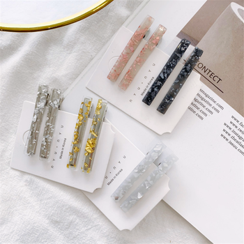 1 Pair Korean Gold Foil Hairpin Acetate Hair Clip For Women Girls Barrettes Hair Accessories Gifts Hair styling Tools New Arrive
