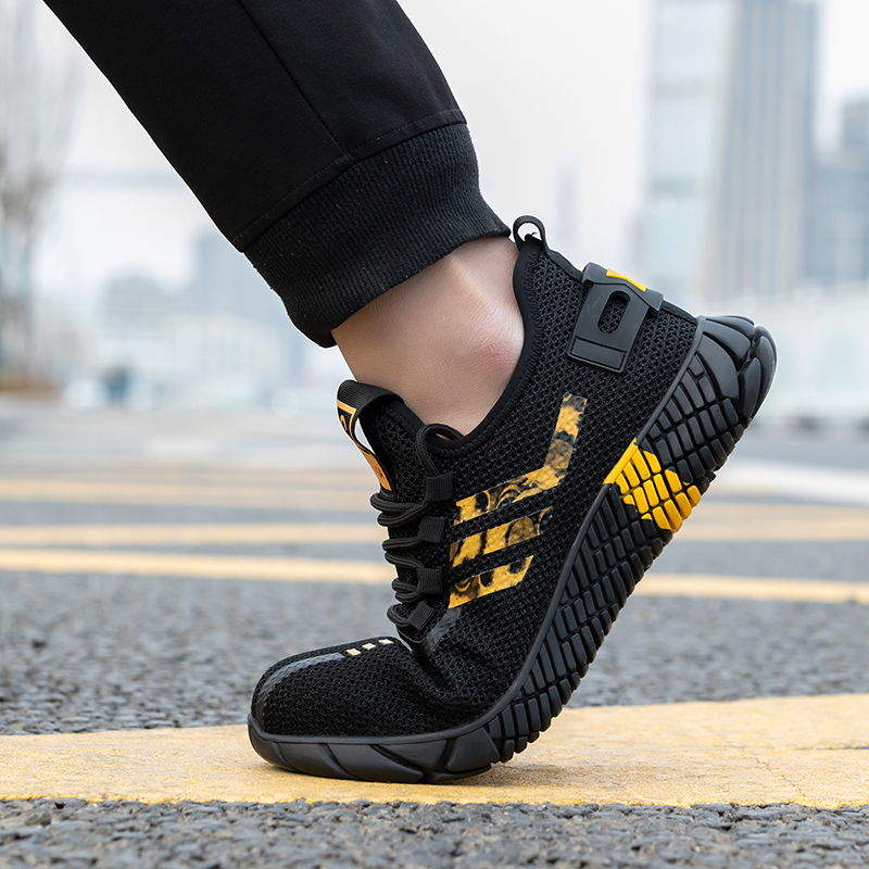 2020 New Breathable Men Safety Shoes Steel Toe  Non-Slip Work Boots Indestructible Shoes Puncture-Proof Work Sneakers Men 4