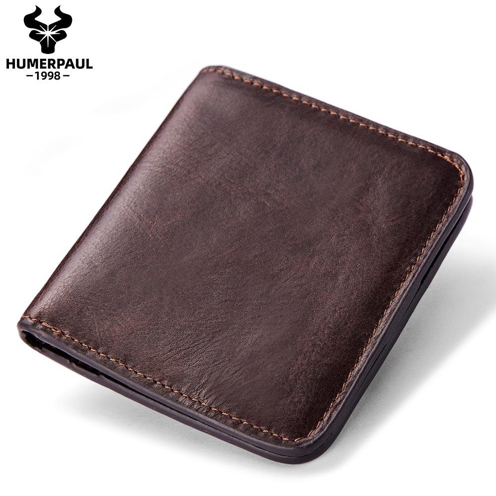 Cartera de cuero para hombre, cartera masculina de marca de lujo, de diseño de calidad, monedero, tarjetero