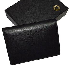 Мужской кожаный черный брендовый держатель для банковской кредитной карты, кошелек из натуральной кожи, спортивные сумки для бега по город...