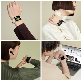 Xiaomi Mi Watch Lite Bluetooth Smart Watch GPS 5ATM Waterproof SmartWatch Fitness Heart Rate Monitor mi band Global Version 6