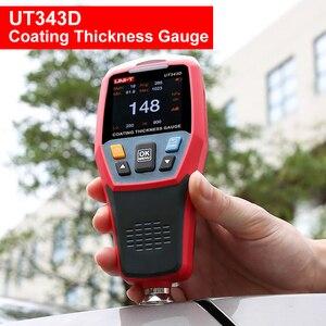 Image 1 - Grubościomierz dla samochodów UNI T UT343D miernik grubości lakieru farby miernik grubości lakier samochodowy Tester FE/NFE pomiar