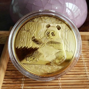 Coins Big Panda Baobao China Commemorative Collection Art Gift Black and white Bear cute Gold Sliver Colour(China)