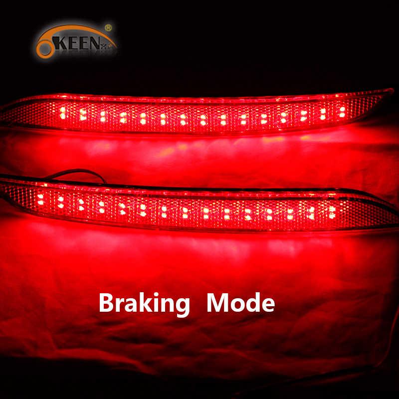 2 Stuks Voor Hyundai Elantra Md Avante 2012 2013 2014 Led Rear Bumper Reflector Licht Staart Brake Stop Light 12V Rode Kleur 5W