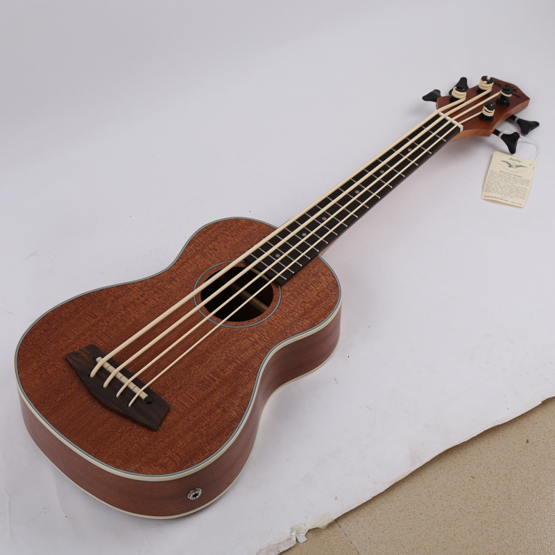 Купить с кэшбэком 30 inch Mini Electrica Guitar Musical Instruments Full Sapele Retro Closed Knob Ukulele 4 strings Bass Guitar Guitarra UB-113