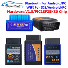 OBD2 ELM Automotive-Scanner Auto-Tool V1.5 Pic18f25k80 Elm327 V2.1 WI-FI Bluetooth C
