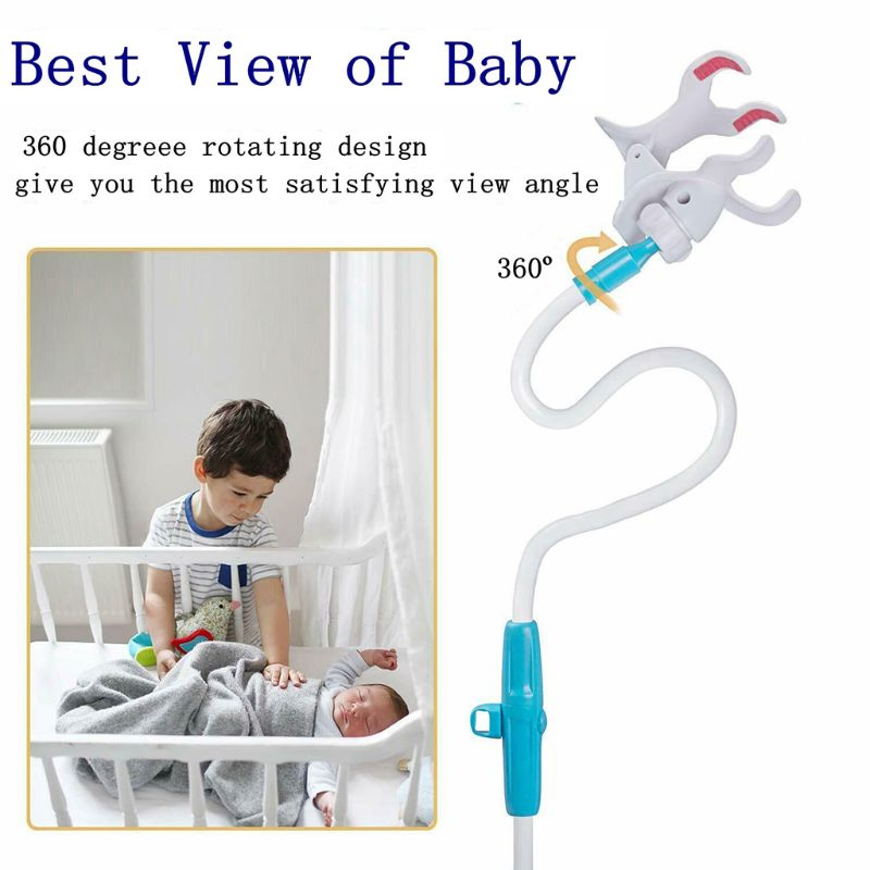 Universal Baby Monitor Holder 360 Degree Rotary Flexible Baby Camera Mount Shelf Safer Monitor Stand for