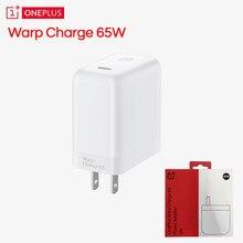 Original oneplus 8 t warp charge 65 adaptador de energia branco ue eua reino unido warp carregador tipo c para tipo c cabo 65w um mais 8 t 8pro 7t 7