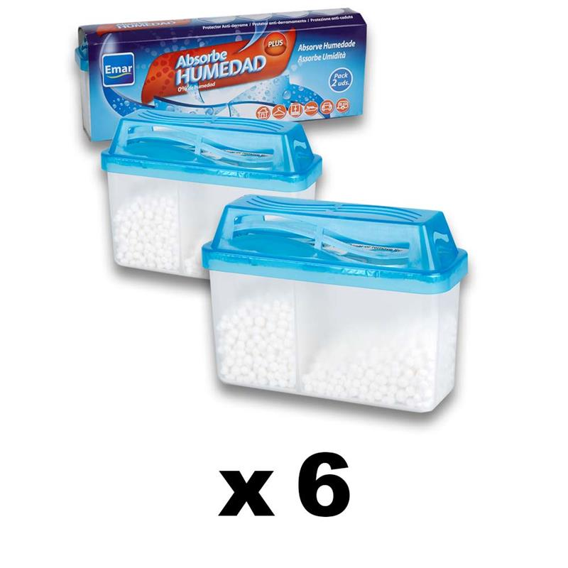 PACK 6 Units 9812-Absorbing Humidity 2x200 Ml. (2X90 DEG.) Airtight Anti-discharges EMAR