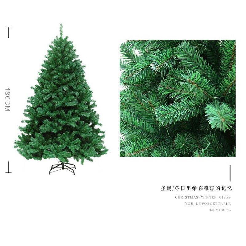 240 см новогодняя елка ПВХ вечерние домашние рождественские украшения для отеля Рождественская елка - 5