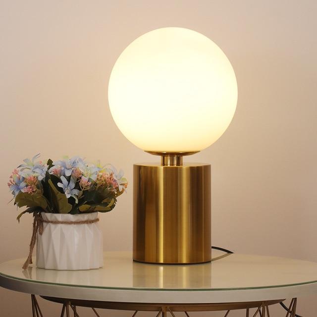 Szklana kula lampka nocna led xiaomi mijia lampada da tavolo candeeiro de mesa lampka nocna do sypialni łóżko lampa stołowa
