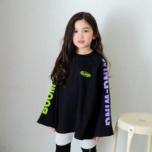 Image 4 - Ragazzi di Autunno della molla Delle Ragazze di Sport Set Femminile Bambini Casual T Shirt Bambini del Vestito Hip Hop Lettera Maniche Adolescenti Tute CA854