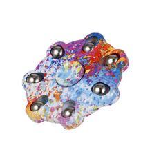 Dedo spinner mão spinner brinquedo rápido rolamento para matar o tempo alivia estresse ansiedade autismo adhd relaxar flor de ameixa