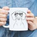 Кружка для собак такса  Doxie Weiner  11 унций  подарок для влюбленных собак