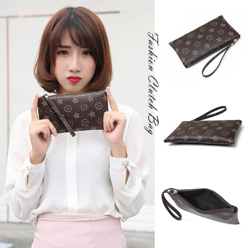 Multifunction Women's Clutch Bag PU Wild Mobile Phone Bag Purse Fashion Print Clutch For Women Key Card Bag Cosmetic Bag Femme