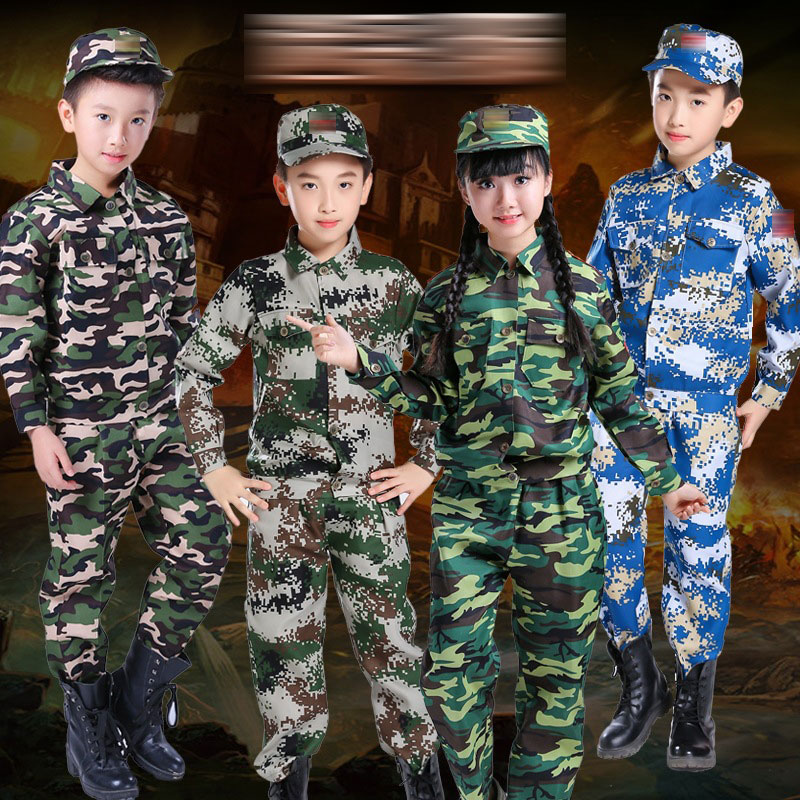 Tactical Military Uniform For Children's Day Disguise Soldier Army Suit  Carnival Halloween Costumes For Kid Girl Scout Boy