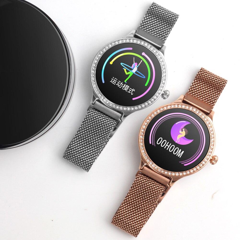 Smart Bluetooth Bracelet Intelligent Health Monitoring Crystal Dial Watch TS95