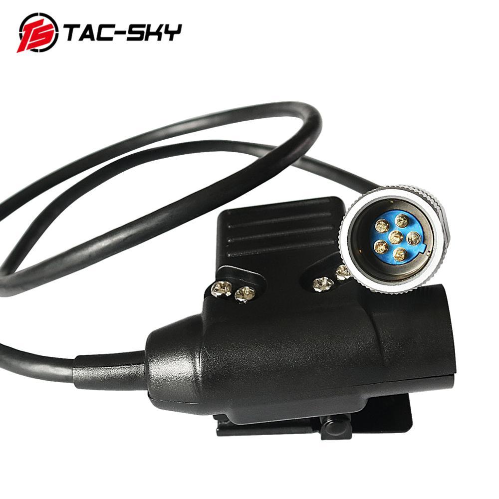 TAC-SKY AN / PRC 152 152A PRC-148 Military Tactical Headset Walkie-talkie Model Accessories PTT 6 Pin U94 Ptt