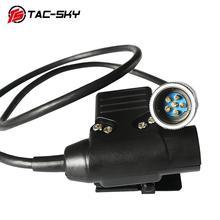 TAC SKY EINE/PRC 152 152A PRC 148 military tactical headset walkie talkie modell zubehör PTT 6 pin u94 ptt