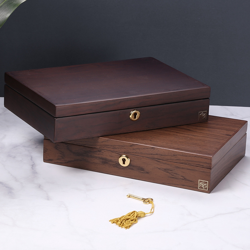 CASEGRACE Travel Jewelry Box Women Wooden Rectangle Packaging Necklace Rings Earrings Storage Organizer Display Gift Boxes Case
