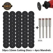 Cmcp 54 шт абразивный режущий диск 32 мм с оправками шлифовальные