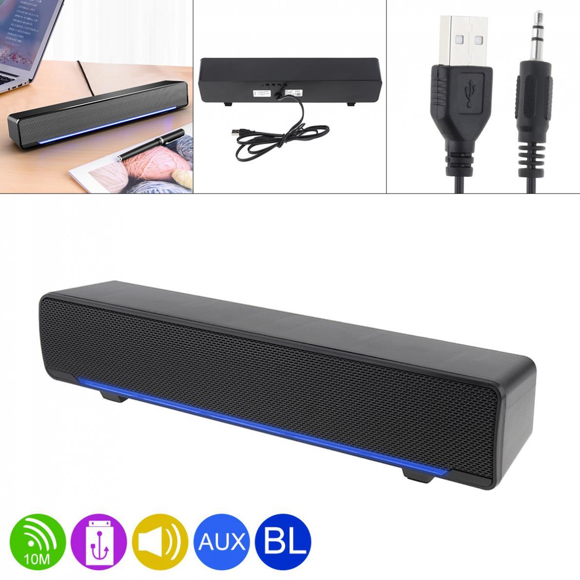 SADA V-196 Bluetooth полосная Колонка Беспроводная настольная мультимедийная звуковая панель со смешанным звуком для дома/офиса