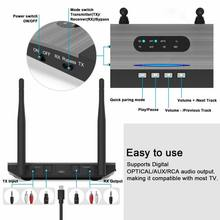 3-in-1 5.0 Bluetooth Music Audio Adapter Aux Fiber Optic Bluetooth Receiver And Transmitter(China)