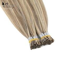 Vlasy 20 ''28'' 1 г/локон, предварительно скрепленные волосы для наращивания remy, прямые волосы для наращивания с двойной капсулой fusion hair Piano color