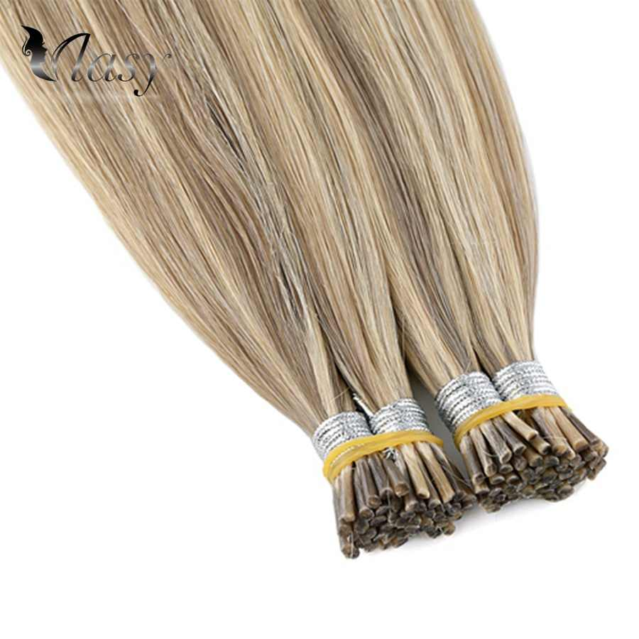 Vlasy 20'' 28'' 1g/s Pre Bonded I Tip Remy Hair Extensions Straight Double Drawn Capsule Fusion Hair Piano Color