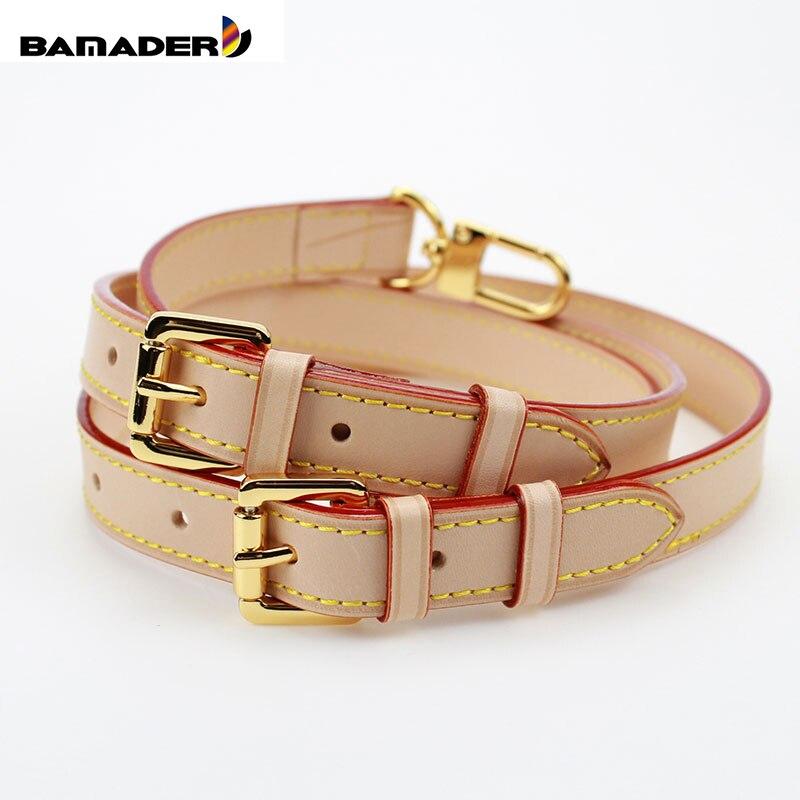 BAMADER Brand High Quality Genuine Leather Bag Strap Length 107CM-119CM Luxury Adjustable Shoulder Strap Women Bag Accessorie