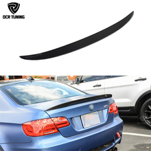 Carbon wings For BMW E92 Spoiler 3 Series 2 Door E92 M3 E92 Coupe Carbon Spoiler Performance three Style car styling 2005 - 2012
