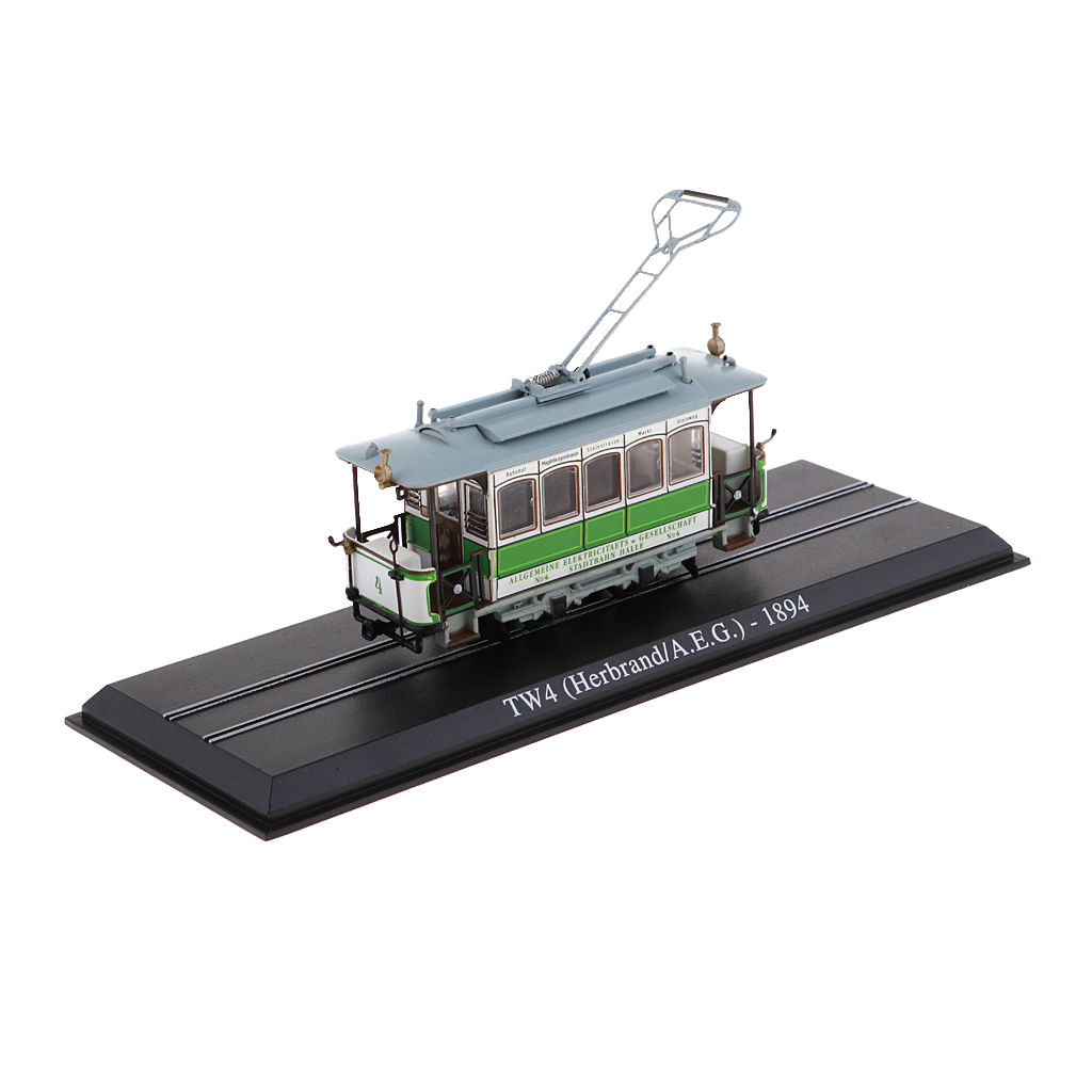 1:87 Scale Atlas Model Tram Toy TW4 1894 Diecast Car Vehicle Collectable Toy