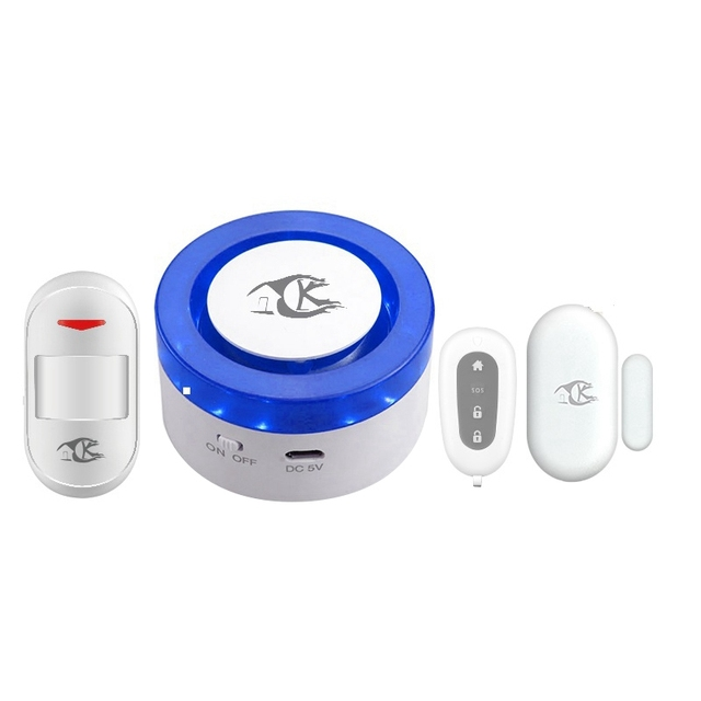 WiFi bezprzewodowa syrena bezpieczeństwa w domu Alarm WiFi inteligentny syreny Tuya kompatybilny z Alexa Google domu ue wtyczką tanie tanio NONE CN (pochodzenie) 65*65*35mm Apps Control Wireless Window Sensor FR Remote-controller 433 92MHz Greater than =100dB