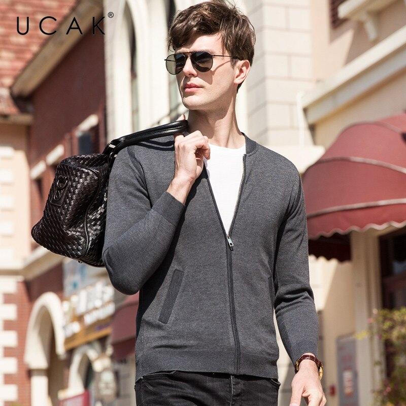 UCAK Brand Sweater Men Autumn Winter Cardigan Men Clothes 2019 New Arrival Streetwear Casual Coat Men Cotton Wool Knitwear U1016
