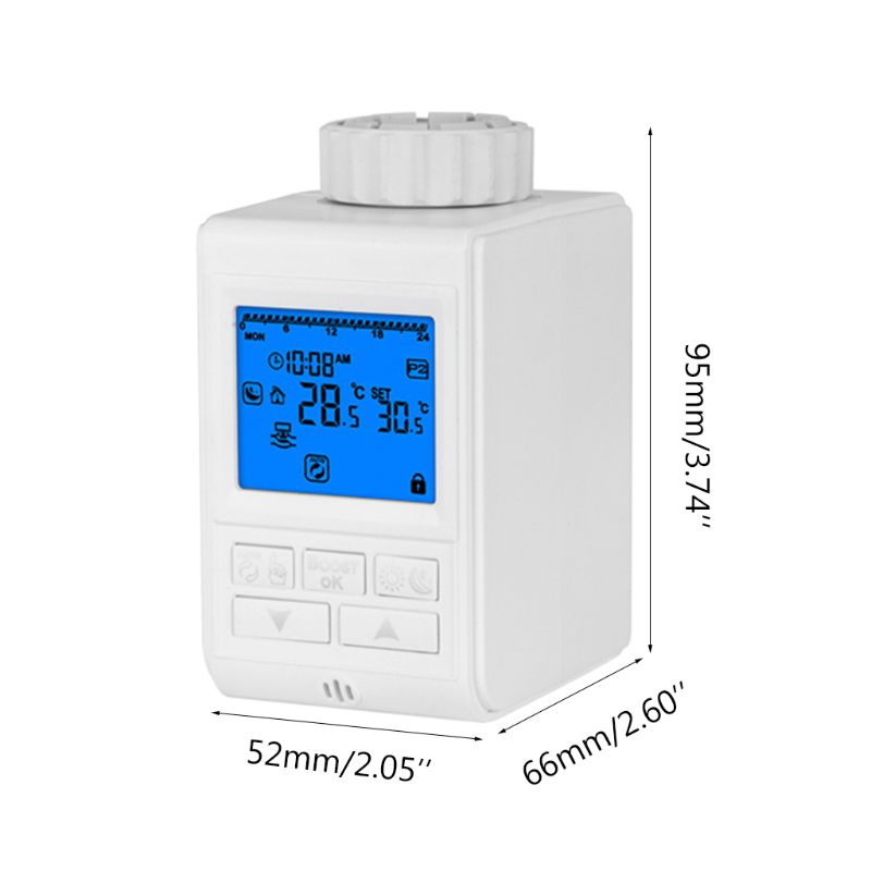 Programmable Thermostat Timer TRV Radiator Valve Actuator Temperature Controller S25 19 Dropship