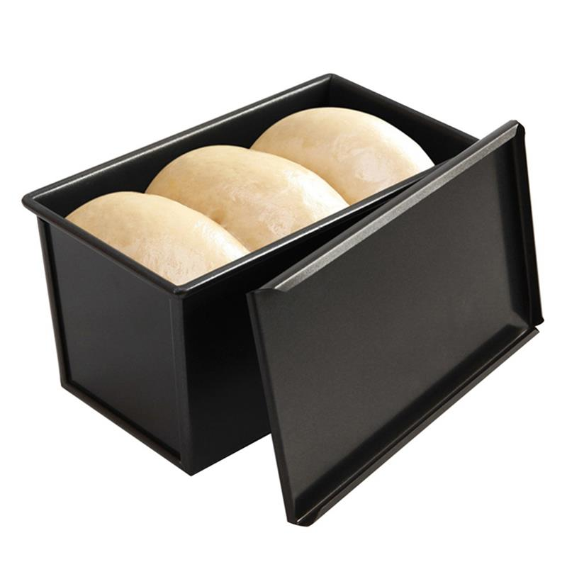 2020 New Useful 450g Carbon Steel Bread Loaf Pan With Cover Bread Toast Mold Lid Heavy Duty Professional Bread maker Pan