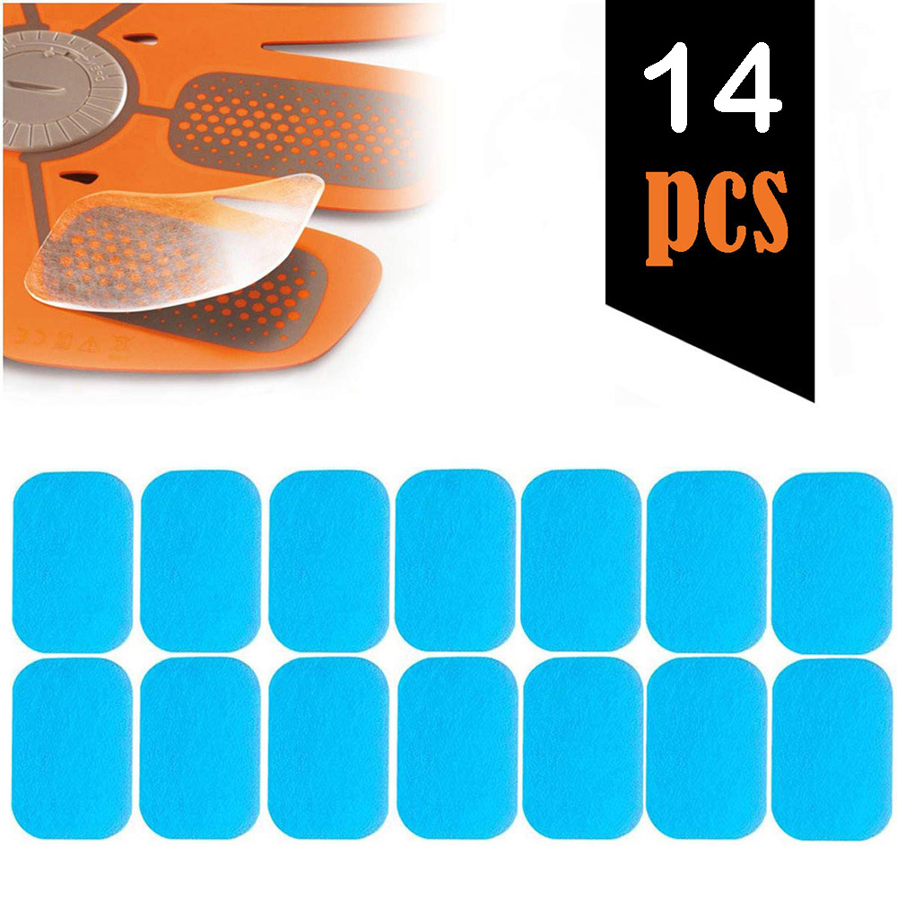 14Pcs Hydrogel Abs Stimulator Gel Pads Replacement Gel Sheet For EMS Muscle Trainer Abs Muscle Toning Belt Fitness Accessories