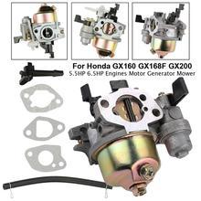 Carburetor Carb Carburetor Accessory Kits for Honda GX160 GX168F GX200 5.5HP 6.5HP + Fuel Pipe Gasket Engine 5pcs petrol snap in primer bulb fuel for chainsaws blowers trimmer carburetor