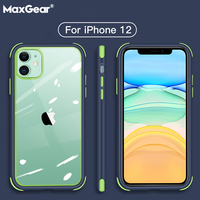 Funda a prueba de golpes para iPhone 12 Mini, 11 Pro Max, XR, XS Max, X, 8, 7, 6S Plus, SE2, funda trasera dura transparente con Airbag