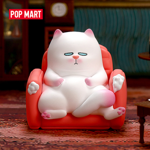 POPMART VIVI CAT lazily sitting S1 Blind Box Doll Binary Action Figure Birthday Gift Kid Toy Action Figure free shipping(China)