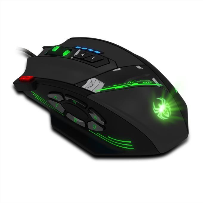 Zelotes C-12 программируемых кнопок светодиодный оптический USB игровой Мышь мышей 8000 Точек на дюйм компьютерный стол эргономичный Тихая для порт...