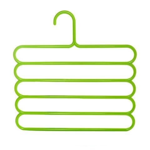 Многофункциональная сушилка для брюк вешалка для хранения брюк вешалка для одежды держатель для полотенец шкаф-Органайзер - Цвет: Green