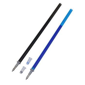 Заказные 100 шт стираемые чернила для заправки пули 0,5 мм наконечник синий черный две спецификации по желанию подходящая шариковая ручка гел...