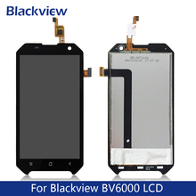 цена на For Blackview BV6000 LCD Display+Touch Screen,100% Tested Screen Digitizer Assembly Replacement BV6000S BV7000