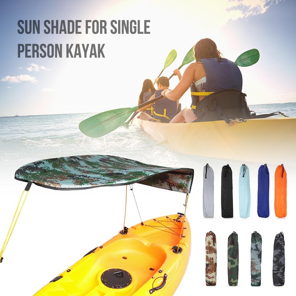 Kayak Boat Sun Shelter Sailboat Awning Top Cover Canoe Shade Canopy Fishing Tent Rain Single Person